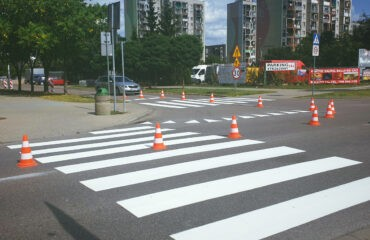 Wykonanie oznakowania poziomego dróg i ciągów pieszo-rowerowych
