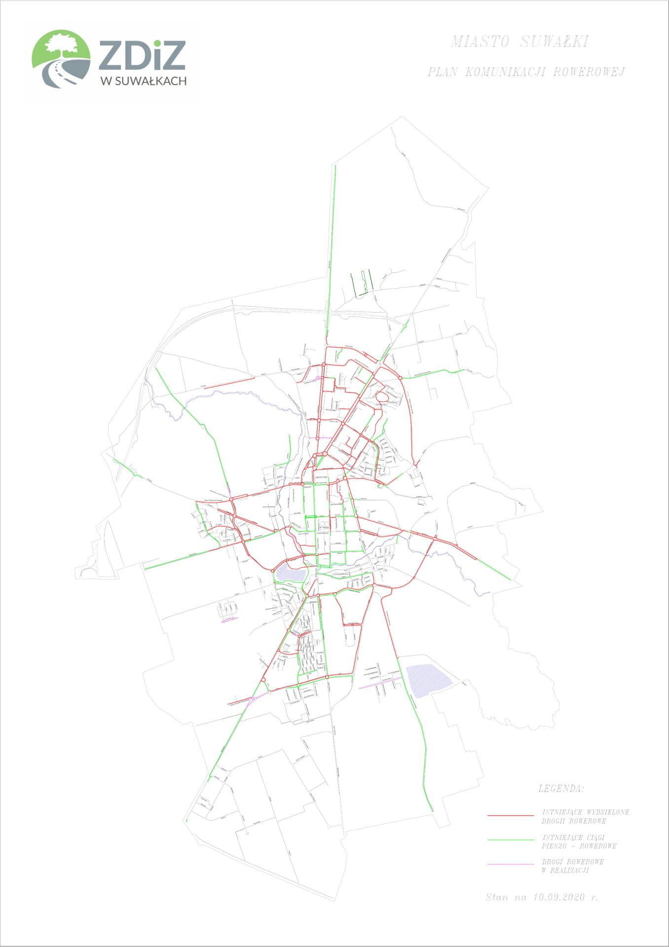 Miasto Suwałki – Plan komunikacji rowerowej 16.09.2020r.-1