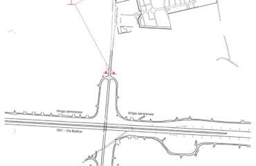 Schemat zabezpieczenia Cmentarza przy ul. M. Reja-1